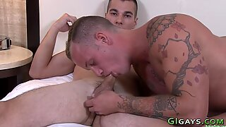 Soldiers gobble and tug