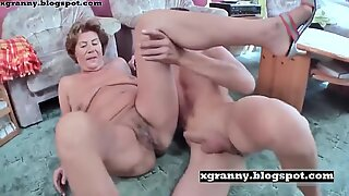 Farmor sex med pojke och röv knullad
