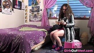 Teen hottie's first vibratorReport this video