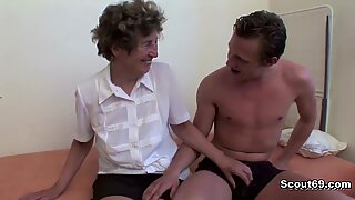 German Mom get seduce to fuck hardcore anal by step-son