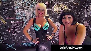 Storbröstad dr. Julia Ann & dr. Jessica Jaymes behöver en snopp-paus!