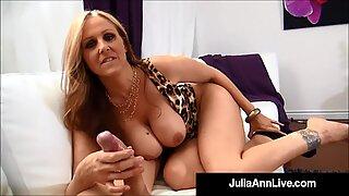 Forró világ híres Érett Érett Nő Julia Ann kap egy meleg terhelést Sperma a mellén!